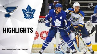Blues @ Maple Leafs 10/7/19 Highlights