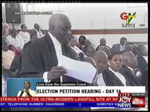 2012 Election Petition Hearing  Day 16 (14-5-13)