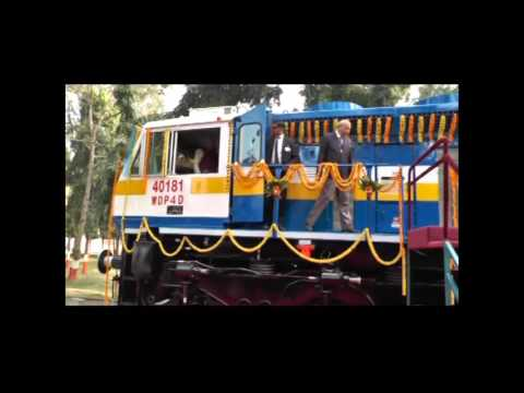 Hon'ble PM Shri Narendra Modi flagged off the 4500 HP new type of passenger locomotive WDP4D