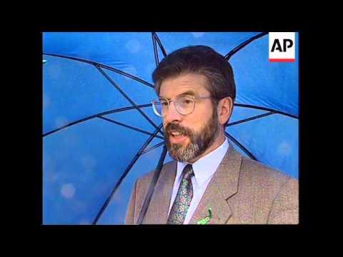 NORTHERN IRELAND: SINN FEIN LEADER GERRY ADAMS PEACE PROCESS CLAIM