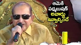 Super Star Krishna ABOUT Vijaya Nirmala on her birthday celebrations