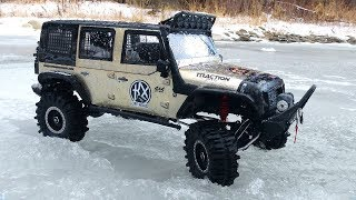 RC ADVENTURES - SLUSH & iCE - HUGE 1:8th CRAGSMAN Jeep! Traction Hobby - FiRST TRAiL RUN (PT 2)