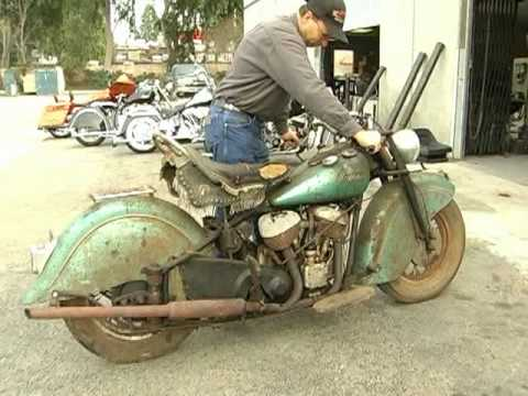 1948 Indian Chief motorcycle comes back to life after 40 years...