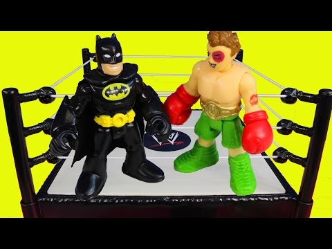 Imaginext First Annual Battle Wars Spider-man Batman Hulk Superman Joker Bane Riddler Marvel