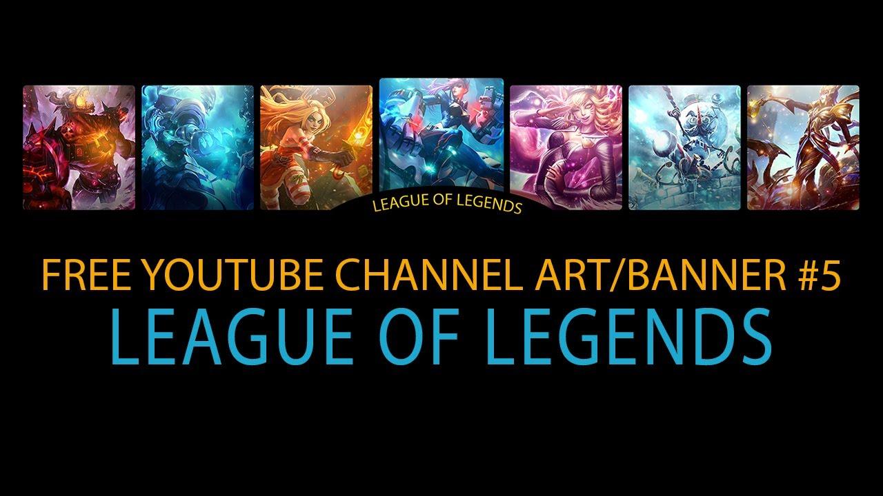 Speed art free youtube channel art banner 5 league of legends