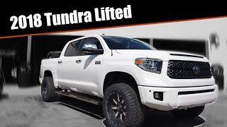 2018 White Tundra LIFTED all the way around - Coast 2 Coast Customs