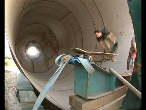 Skateboard in a Pipe