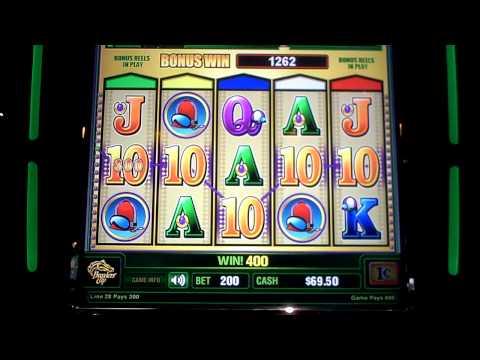 Breeders Cup slot machine bonus win
