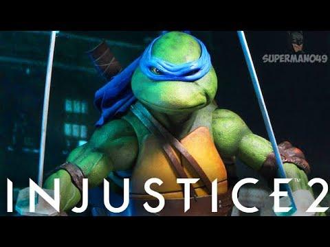 LEGENDARY LEONARDO TAKES ON MICHELANGELO! - Injustice 2: