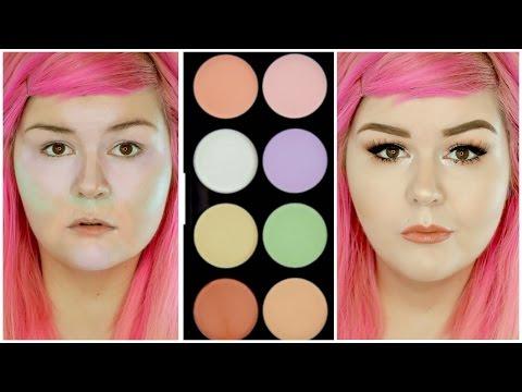 Color Correcting Using Makeup Revolution Ultra Base Corrector Palette