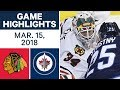 Download NHL Game Highlights   Blackhawks vs. Jets - Mar. 15, 2018 in Mp3, Mp4 and 3GP