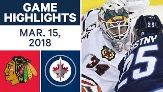 NHL Game Highlights | Blackhawks vs. Jets - Mar. 15, 2018