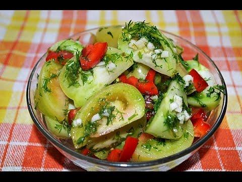 Маринованные зеленые помидоры.  Как замариновать зеленые помидоры.