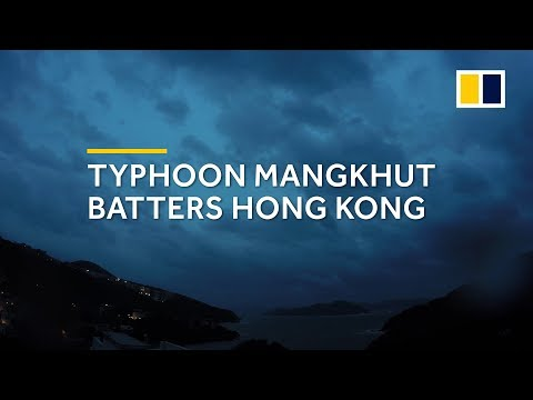 Typhoon Mangkhut rolls into Hong Kong