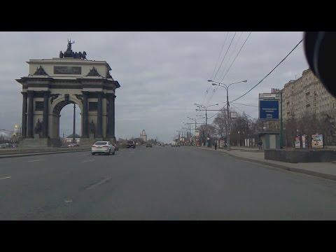 . Автоподстава на Кутузовском проспекте при скорости 50 (MITSUBISHI PAJERO, н444хт177)