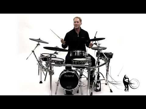 Roland TD-50KV V-Drums Electronic Drum Set Sound Sample and Demo