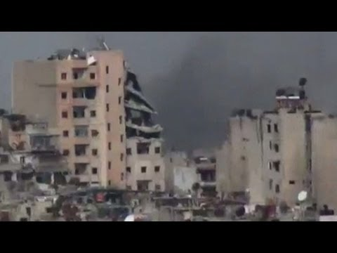 Syria's Civil War: Amateur video of attack on Homs in Syria