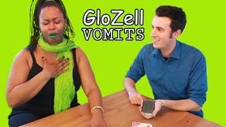 GloZell Vomits Over Magic Trick