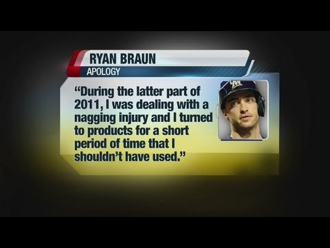Ryan Braun admits to using PEDs in statement
