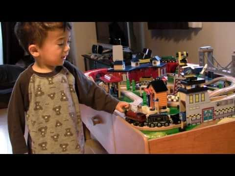 Tai's 2 Year Birthday Present - Imaginarium Train Table