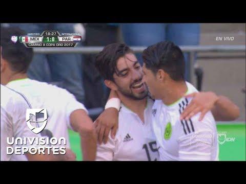 Golazo de Rodolfo Pizarro y México ya le gana 1-0 a Paraguay