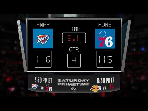 Download Lagu  Stay up to date with the Thunder @ 76ers LIVE scoreboard and catch all the action on #NBAonABC! Mp3 Free
