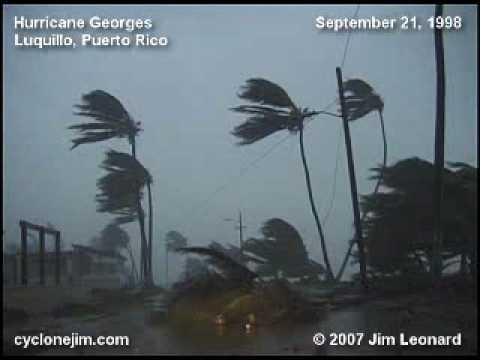 Hurricane Georges - Luquillo, Puerto Rico - Sep. 21, 1998 Video