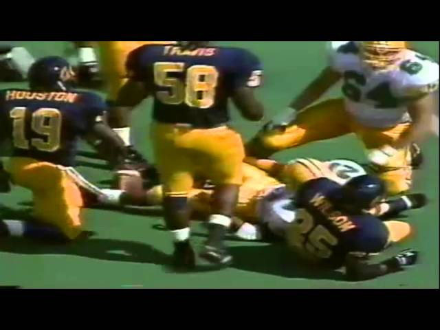 Oregon RB Sean Burwell 9 yard run vs. Cal 10-12-1991
