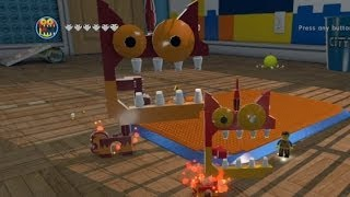 LEGO Movie Videogame - Golden Instruction Build #8 - Mega Kitty (Giant Angry Unikitty)