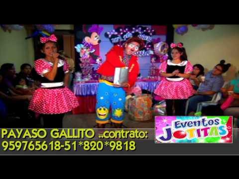 PAYASO GALLITO LIMA-PERU SHOW INFANTIL