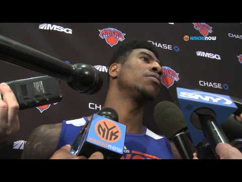 Iman Shumpert speaks to the media