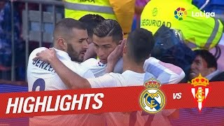 Resumen de Real Madrid vs Sporting de Gijón (2-1)