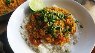 EASY VEGAN RED LENTIL DAHL