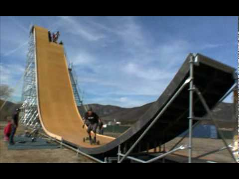 Nitro Circus - Exclusive Nitro Mega Ramp training footage Video