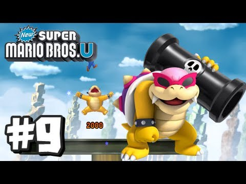New Super Mario Bros U Wii U - Part 9 World 6-Tower, 6-7, & 6-Castle