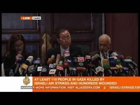 UN chief Ban Ki Moon calls for immediate Gaza-Israel ceasefire