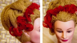 Volume hairstyles with ribbons in 5 minutes. ОБЪЕМНАЯ ПРИЧЕСКА С ЛЕНТАМИ ЗА 5 МИНУТ