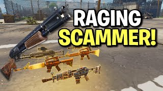 Raging Rich Scammer Scams Himself! (Scammer Get Scammed) Fortnite Save The World