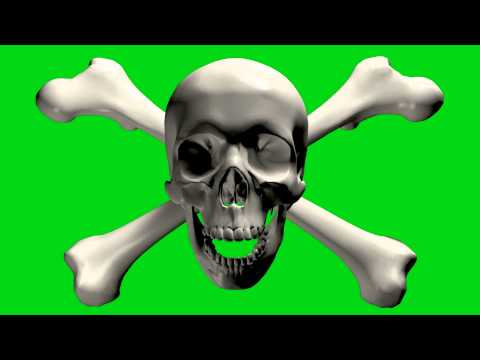 Green screen skull thumbnail
