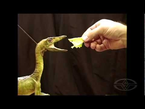 THE LOST WORLD: JURASSIC PARK - Compsognathus Puppet Test behind-the-scenes at Stan Winston Studio