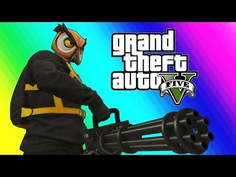 GTA 5 Online Funny Moments - The Weenie Boys & Minigun Unlocked!