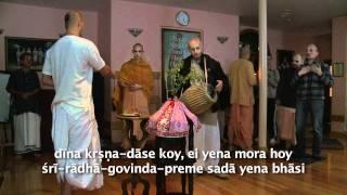 2011.10.08. Mangala Arati, Tulasi Puja HG Sankarshan Das Adhikari - Riga, Latvia