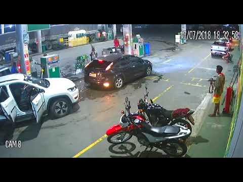 Vídeo mostra assalto em posto combustíveis em Amélia Rodrigues