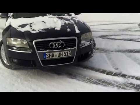 Audi A8 4 0 tdi drifting on snow!!