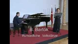 B. Bartók: Romanian Folk Dances. Flute: Anna-Majlinda Spiro, Piano: Amir Xhakoviq