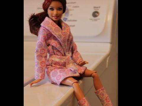 Видео как сшить одежду для кукол барби своими руками
