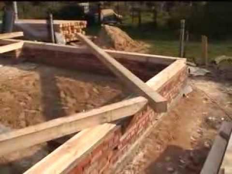 Строительство брусового дома часть 1