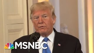 'Sit Down!' Donald Trump Berates Reporters In Fiery Press Conference | The 11th Hour | MSNBC