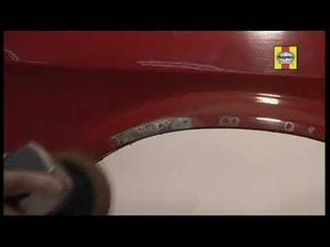 Fill holes or dents in car bodywork