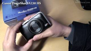 Canon PowerShot SX230 HS unboxing and first look 開封 ファーストインプレ